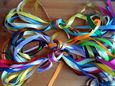 "6mm x 1m x 10 1/2"" satin ribbon Assorted colours 1 meter lengths UK SELLER"